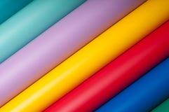 Färgrik plast- film Royaltyfri Fotografi