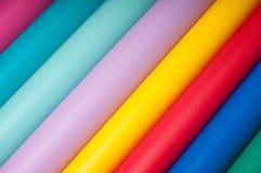 Färgrik plast- film Royaltyfria Foton