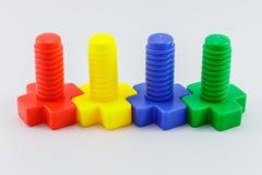 färgrik plastic toy Arkivbild
