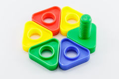 färgrik plastic toy Royaltyfri Bild