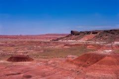 Färgrik platå av den Förenta staterna målade öknen Fotografering för Bildbyråer