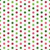 Färgrik polka Dots Seamless Pattern royaltyfri illustrationer