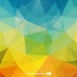 Färgrik Polygonal bakgrundsmall Arkivbild