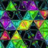 Färgrik polygonal modell för abstrakt triangelbakgrund Royaltyfri Foto