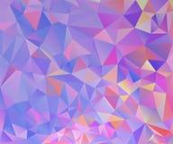 Färgrik polygonbakgrund Vektor Illustrationer