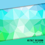 Färgrik polygonbakgrund Arkivfoton