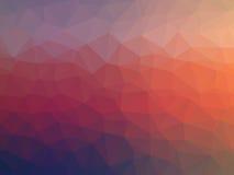 Färgrik polygonillustration Arkivfoton