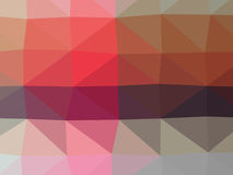 Färgrik polygonillustration Arkivbild