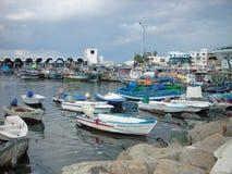 Färgrik port av Kelibia, Tunisien Royaltyfria Foton