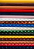 färgrik prövkopiategelplatta Royaltyfria Bilder