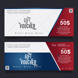 Färgrik presentkort, certifikatkupongdesign, vektorillustration Royaltyfri Fotografi