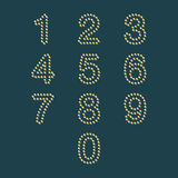 Färgrik pricknummeruppsättning royaltyfri illustrationer