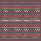 Färgrik prydnad, brun vit röd gul vektorendl för blå gräsplan Arkivfoto