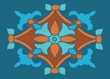 Färgrik prydnad i det blom- motivet för färg för att bekläda eller tegelplatta eller Royaltyfri Bild