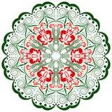 Färgrik prydnaddesignbeståndsdel, mandala stock illustrationer