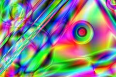 Färgrik psykedelisk bakgrund Fotografering för Bildbyråer