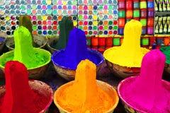 färgrik pulvertika Arkivbilder