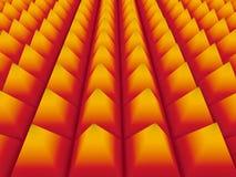 Färgrik pyramidbakgrund för abstrakt begrepp 3d Royaltyfria Foton