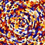 Färgrik radiell bakgrund Royaltyfri Foto