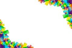 färgrik ram Arkivbild