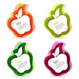 färgrik ram för äpple Arkivfoto