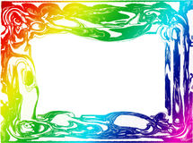 färgrik ram för kant Arkivfoto