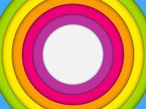 Färgrik ram med cirkelregnbågen royaltyfri illustrationer
