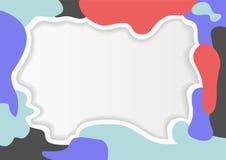 Färgrik ramabstrakt begreppmodell Royaltyfri Foto