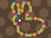 färgrik ramjigsaw för kanin Royaltyfria Bilder
