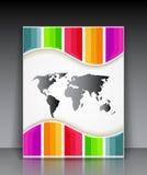 Färgrik randig broschyr för vektor Royaltyfri Fotografi