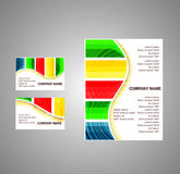 Färgrik randig broschyr för vektor Royaltyfria Bilder
