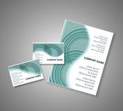 Färgrik randig broschyr för vektor Royaltyfria Foton