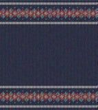 Färgrik randig modell på blå bakgrund stock illustrationer