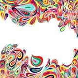 Färgrik randig och bladbakgrund. Arkivbild