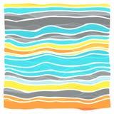 Färgrik randig vågbakgrund Arkivbilder