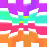 Färgrik razziafyrkantmodell Arkivfoton
