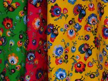 Färgrik regional trendig filt Royaltyfria Bilder