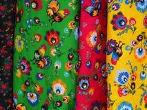 Färgrik regional trendig filt Royaltyfri Fotografi