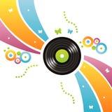 färgrik registrerad vinyl för bakgrund royaltyfri illustrationer