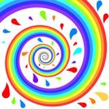 färgrik regnbågespiral Arkivfoto