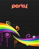 färgrik reklambladdeltagare Arkivfoton