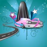 färgrik reklambladdeltagare stock illustrationer