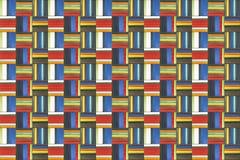 Färgrik rektangeltegelplattabakgrund Royaltyfria Foton