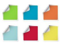 färgrik rektangulär etikett Arkivbilder
