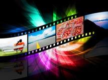 Färgrik remsafilm Arkivbilder