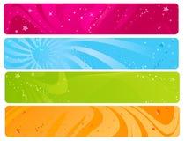 färgrik rengöringsduk för baner Royaltyfri Bild