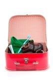 färgrik reservdel resväska Arkivfoto