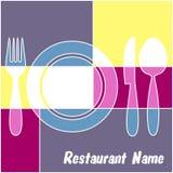 Färgrik restaurangmeny Royaltyfri Fotografi