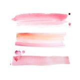 Färgrik retro målarfärg för hand för konst för aquarelle för tappningabstrakt begreppakvarell på vit bakgrund Royaltyfri Foto