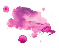 Färgrik retro tappningabstrakt begreppakvarell/målarfärg för aquarellekonsthand på vit bakgrund Arkivfoton